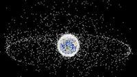 Bumi dikelilingi oleh jutaan sampah antariksa. (NASA)