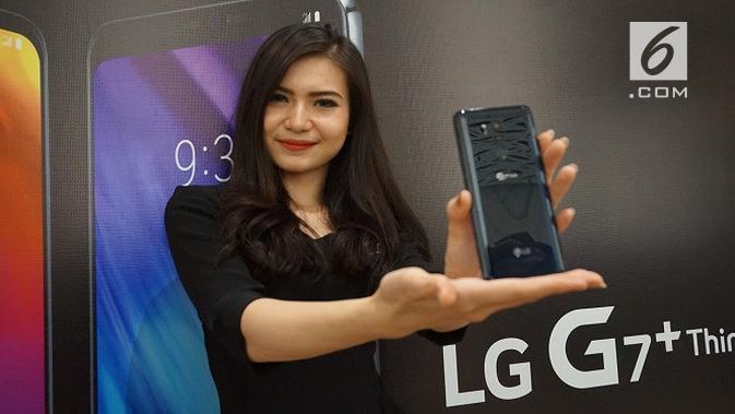 LG G7+ ThinQ. Liputan6.com/Agustin Setyo Wardani