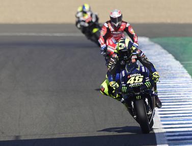 Vinales dan Valentino Rossi Kuasai Sesi Latihan Pertama MotoGP Andalusia 2020