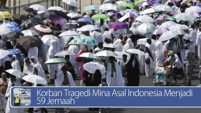 Daily TopNews hari ini akan menyajikan berita seputar Korban tragedi Mina asal Indonesia menjadi 59 jemaah, dan alasan merapikan tempat tidur di pagi hari. Seperti apa berita lengkapnya? Simak dalam video berikut.