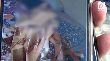 Seorang Ibu muda ditemukan tewas dengan kondisi separuh badan telanjang.