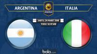 Persahabatan Internasional_Argentina Vs Italia (Bola.com/Adreanus Titus)