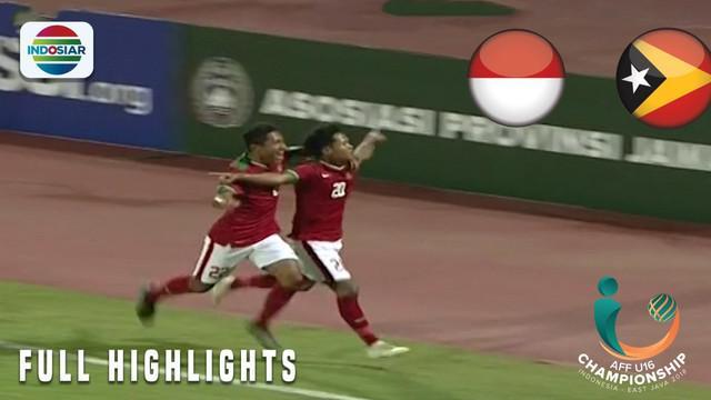 Berita video highlights Piala AFF U-16 2018 antara Timnas Indonesia melawan Timor Leste yang berakhir dengan skor 3-0.