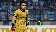 Penjaga gawang Madura United, Muhammad Ridho Djazulie. (Bola.com/Aditya Wany)