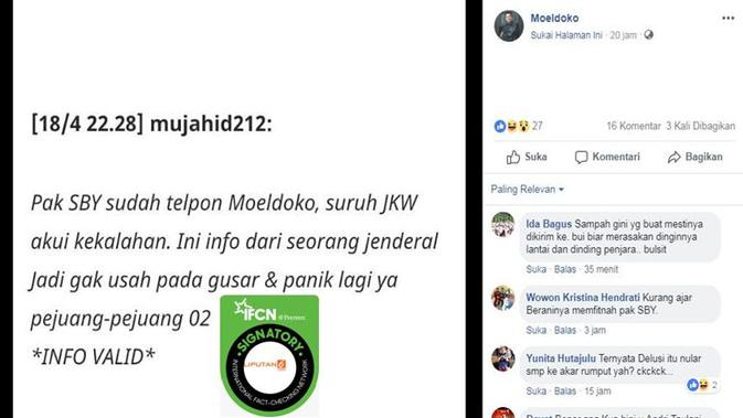 Cek Fakta Hoaks Pesan Berantai soal SBY Minta Jokowi ...