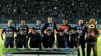 Arema FC di Liga 1 2017. (Bola.com/Iwan Setiawan)