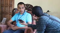 Mirza Amir (kiri) yang berasal dari Tajikistan belajar budaya Jawa di Boyolali. (Solopos.com/Istimewa/Mahasiswa UI/Lian)