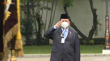 Masker Menteri Pertahanan (Menhan) Prabowo Subianto yang menarik perhatian