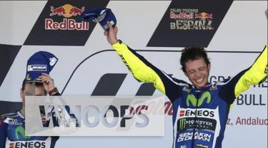 Valentino Rossi sukses menjadi jawara di Grand Prix Spanyol yang diadakan di Circuito de Jerez