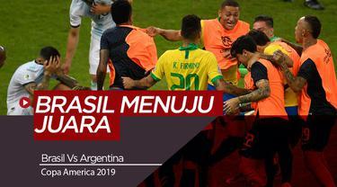 Berita Video Highlights Copa America 2019, Brasil Kalahkan Argentina 2-0