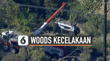 Kecelakaan parah menimpa pegolf Tiger Woods di Los Angeles hari Selasa (23/2). Mobil yang ia kendarai terguling dan rusak berat.
