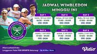 Jadwal dan Link Streaming Grand Slam Wimbledon Eksklusif di Vidio, 28 Juni Hingga 3 Juli 2021. (Sumber : dok. vidio.com)