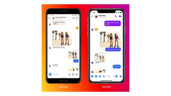 Integrasi Messenger dan Instagram. Kredit: Facebook