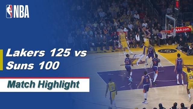 Berita Video Highlights NBA 2019-2020, LA Lakers Vs Phoenix Suns  125-100