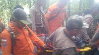 Kondisi jenazah pendaki asal Jerman yang dikabarkan hilang di Gunung Sibayak memprihatinkan. (Liputan6.com/Reza Efendi)