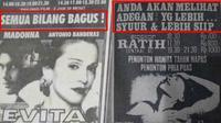 Iklan film di koran lawas (Sumber: Twitter/TarizSolis)