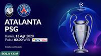 Liga Champions - Atalanta Vs PSG (Bola.com/Adreanus Titus)