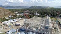 Proyek PT Waskita Karya (Persero) Tbk, Arena Aquatic Papua untuk persiapan Pekan Olahraga Nasional (PON) 2020. (dok: Waskita Karya)