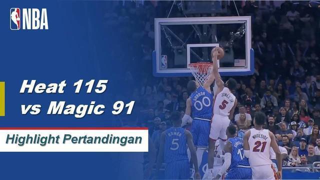 Tyler Johnson mencetak 25 poin dan 2 assist membawa Heat mengalahkan Magic
