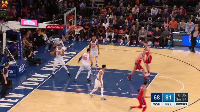 Berita video game recap NBA 2017-2018 antara Washington Wizards melawan New York Knicks dengan skor 118-113.