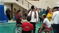 Gubernur DKI Jakarta Anies Baswedan meresmikan 7 gedung olahraga atau GOR di Ibu Kota. (Liputan6.com/Ika Defianti)