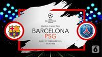 Barcelona vs Paris Saint-Germain (liputan6.com/Abdillah)