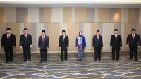 Pelantikan Dewan Pengawas dan Direksi BPJS Kesehatan 2021-2026 oleh Presiden Joko Widodo (Jokowi) di Istana Kepresidenan Jakarta pada Senin, 22 Februari 2021. (Humas BPJS Kesehatan)