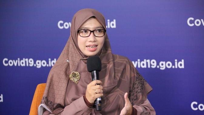 Ahli Epidemiologi dan Informatika Penyakit Menular dari Tim Pakar Gugus Tugas Percepatan Penanganan COVID-19 (Gugus Tugas Nasional), Dewi Nur Aisyah. (Dok.BNPB)