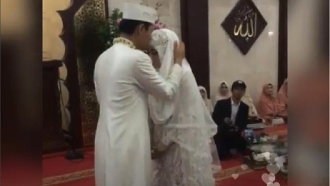 Anisa Rahma telah menikah dengan  Anandito Dwi Sepdiawan. [Foto: Instagram Live]