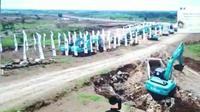 Pembangunan bandara kediri, Jawa Timur. (Foto: Liputan6.com/Dian Kurniawan)