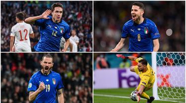 Timnas Italia berhasil melaju ke babak final Euro 2020 (Euro 2021) usai membungkam Spanyol lewat adu penalti. Berikut lima pemain yang tampil apik di laga tersebut.