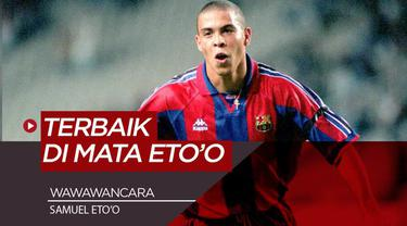 Berita Video mantan striker Barcelona dan Inter Milan, Samuel Eto'o Puji Ronaldo sebagai striker terbaik di dunia