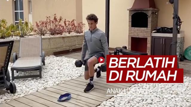 Berita video aktivitas anak mantan pelatih Timnas Indonesia, Luis Milla, saat di rumah karena karantina wilayah yang diterapkan di Spanyol karena pandemi virus corona.