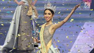 Nadia PurwokoBerhasil Merebut Mahkota Miss Grand Indonesia 2018