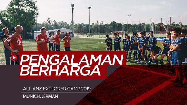 Berita video melihat beragam kegiatan Allianz Explorer Camp 2019 bersama anak-anak berbakat dari Asia yang mendapat pengalaman berharga di Munich, Jerman. Salah satu kegiatannya yaitu berlatih bersama pelatih dari Bayern Munchen.