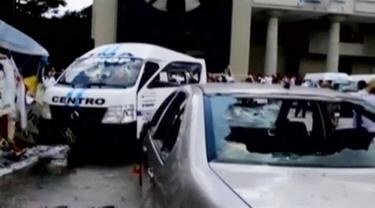 Bentrok Antar Kelompok Sopir Taksi di Meksiko