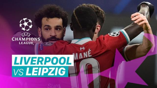 Berita video gol-gol dan beragam peluang yang terjadi saat Liverpool menang 2-0 atas RB Leipzig pada leg kedua babak 16 besar Liga Champions 2020/2021, Kamis (11/3/2021) dinihari WIB.