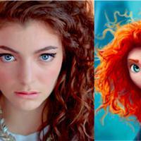 Lorde dan Merida dari Brave memang mirip ya kalau soal gaya rambut. (961.com.au)