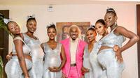 Playboy Nigeria Gandeng 6 Wanita yang Tengah Hamil ke Pesta Pernikahan. (Sumber: Instagram.com/prettymikeoflagos)