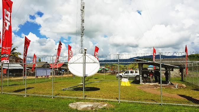 BTS Telkomsel di desa-desa yang sulit sinyal (Sumber: Dok Telkomsel)