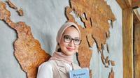 Peluncuran buku ketiga Angkie Yudistia, Become Rich as a Sociopreneur, di kawasan Sudirman, Jakarta Pusat, 5 Juli 2019. (dok. tim Angkie Yudistia)