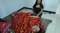 Titi Wati setelah berada di RS. (Liputan6.com/Rajana K)