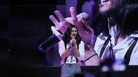Virzha saat tampil di peluncuran Oona TV di Jakarta, Rabu (19/9/2018).
