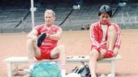 Anatoli Polosin dan asistennya Danurwindo saat menukangi Timnas Indonesia dalam persiapan SEA games 1991. (Bola.com/Dok. Pribadi)