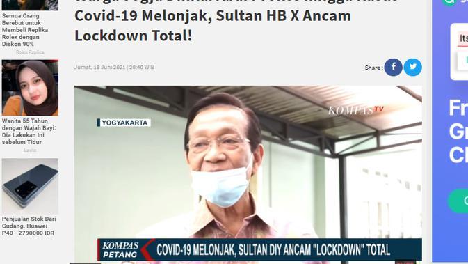 Cek Fakta Liputan6.com menelusuri klaim televisi hanya memberitakan kenaikan penularan Covid-19 di Jakarta