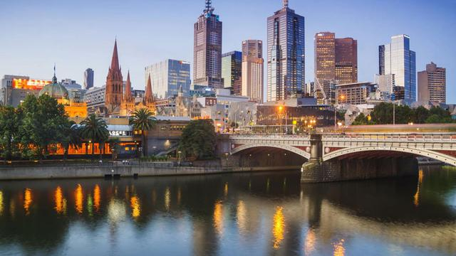 Ilustrasi kota Melbourne, Australia (AFP/Christopher Futcher)
