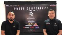 GM APPI, Ponaryo Astaman, dan CEO Mahaka, Cahyadi Wanda, saat menggelar konferensi pers virtual Esports Superstars Battle, Rabu (10/6/2020). (Istimewa)