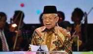 Wakil Presiden Ma'ruf Amin di acara Peringatan Hari Sumpah Pemuda (HSP) ke-91, di Jakarta Concert Hall, Senin (28/10) malam.