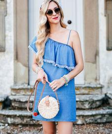Round Straw Bag - Photo: Fashionsfobia