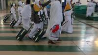 Jemaah haji baru tiba di Bandara King Abdul Aziz, Jeddah. Darmawan/MCH